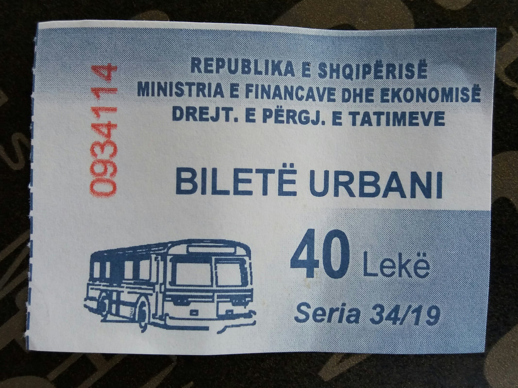 bus ticket in Tirana
