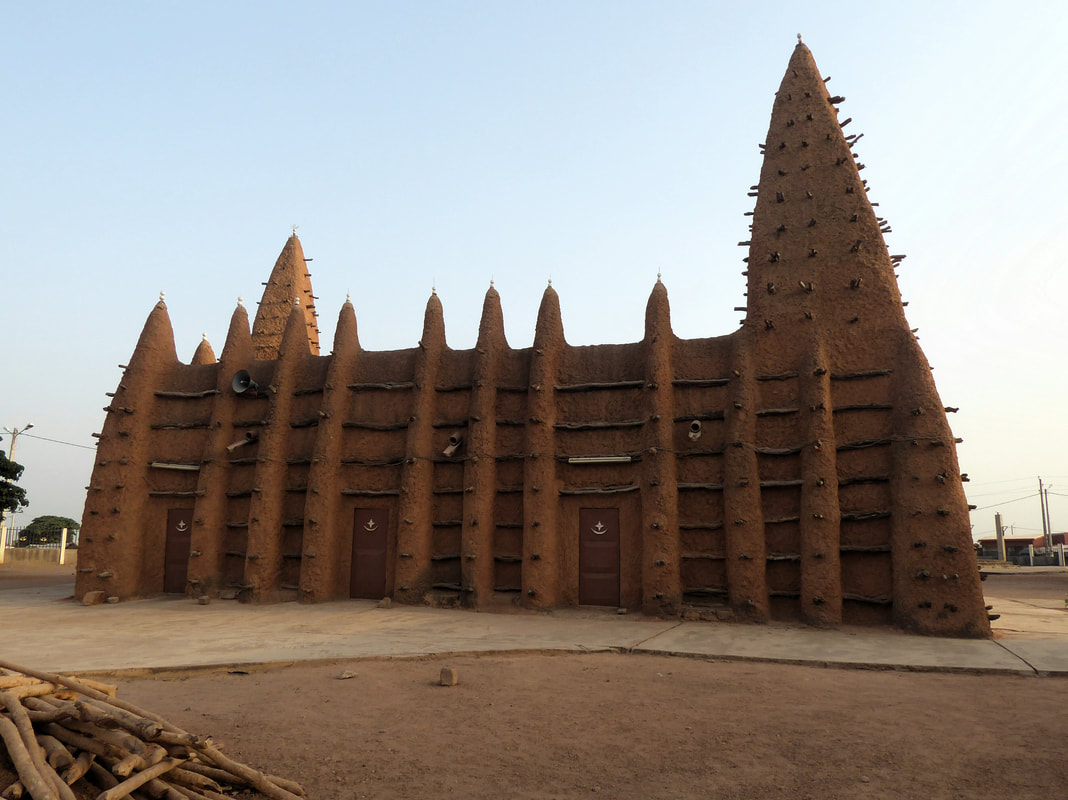 Mud Mosque in Kong Ivory Coast Cote d'Ivoire