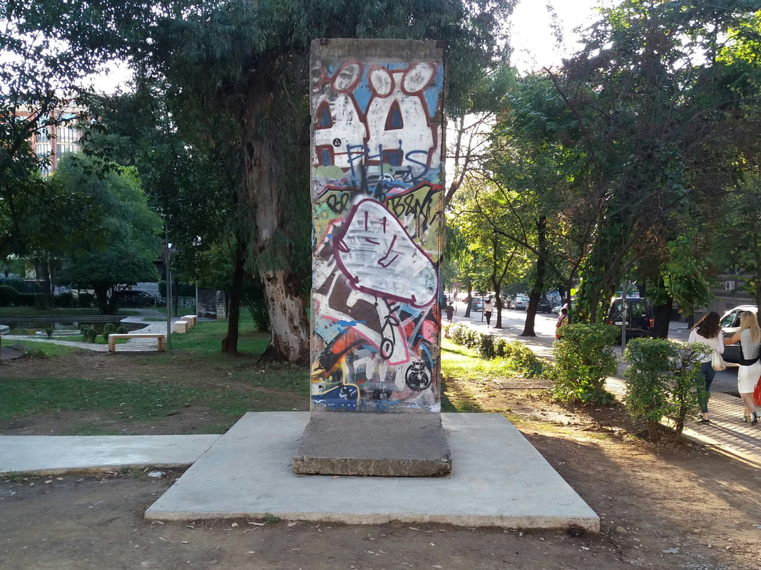 Berlin Wall in Tirana Postbllok